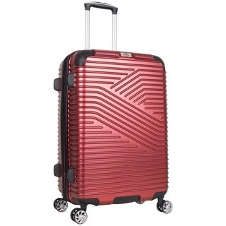 Ben Sherman Bangor Collection 24-Inch Hardside PET Expandable 8-Wheel Spinner Checked Suitcase