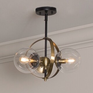 Griggs Globe 3-Light Semi Flush Mount Ceiling Light