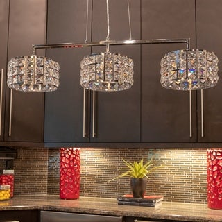 Modern Island Lighting For Cosette Crystal Threelight Island Pendant Buy Modern u0026 Contemporary Ceiling Lights Online At Overstock