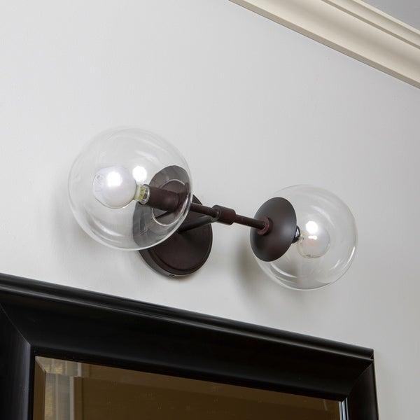 globe wall sconce glass ball wall gideon 2light globe wall sconce shop on sale free shipping