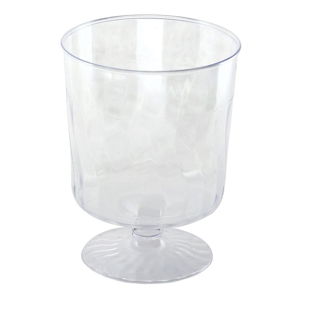 2 Pack Kaya Collection Disposable Plastic Clear 8oz Wine Glasses Crystal-Like Design 20 Glasses