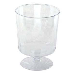 Kaya Collection - Disposable Plastic Clear 8oz Wine Glasses Crystal-Like Design