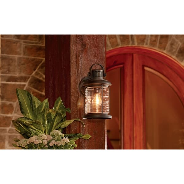 Traditional 1 Light Prairie Rock Outdoor Wall Sconce