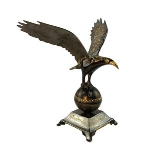 Natural Geo Brass Falcon Figurine Decor