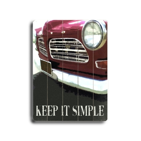 Keep it Simple - Planked Wood Wall Decor by Lisa Weedn