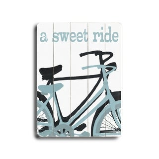 Sweet Ride -   Planked Wood Wall Decor by Lisa Weedn