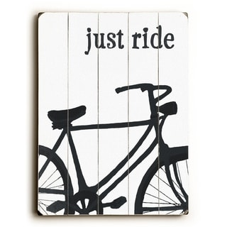Just Ride -   Planked Wood Wall Decor by Lisa Weedn