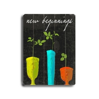 New Beginnings -   Planked Wood Wall Decor by Lisa Weedn