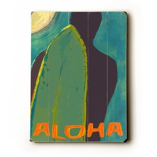 Aloha -   Planked Wood Wall Decor by Lisa Weedn