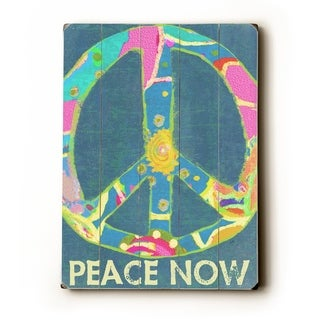 Peace now -   Planked Wood Wall Decor by Lisa Weedn