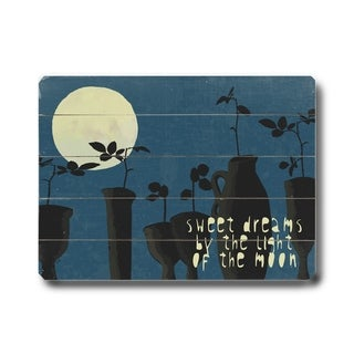 Sweet Dreams -   Planked Wood Wall Decor by Lisa Weedn