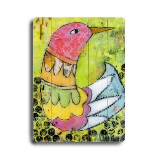 Bird -   Planked Wood Wall Decor by Cindy Wunsch