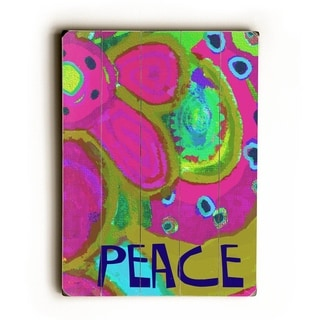 Peace -   Planked Wood Wall Decor by Lisa Weedn