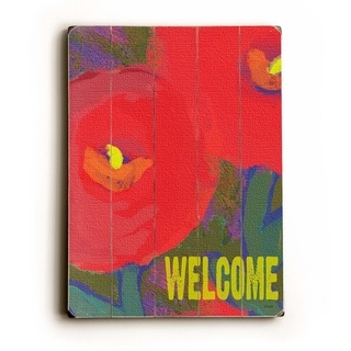 Welcome -   Planked Wood Wall Decor by Lisa Weedn