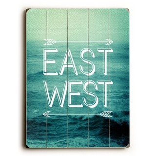 East West -   Planked Wood Wall Decor by Pocket Fuel