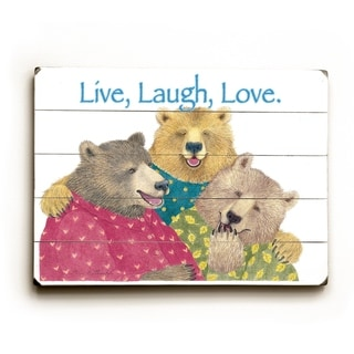 Live, Laugh, Love -   Planked Wood Wall Decor by Paris Bottman