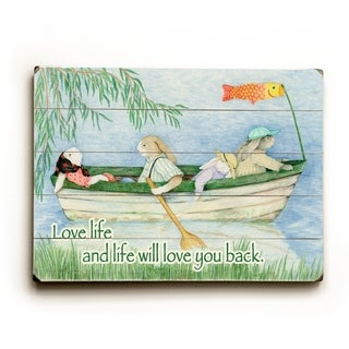 Love Life -   Planked Wood Wall Decor by Paris Bottman