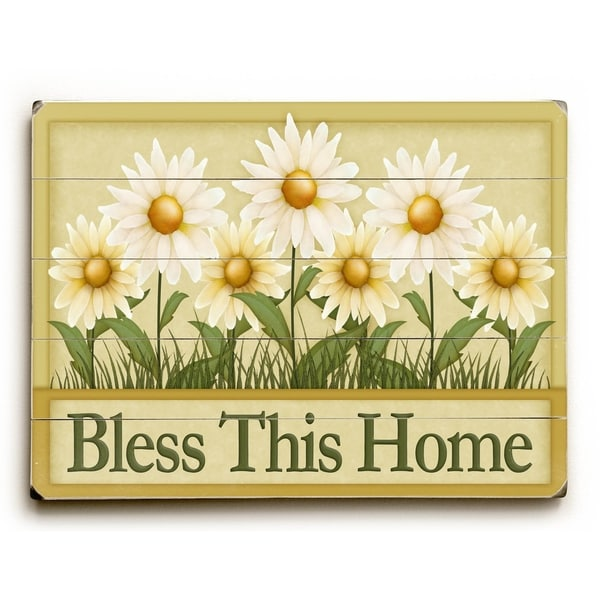 Bless This House - Planked Wood Wall Decor by Artehouse