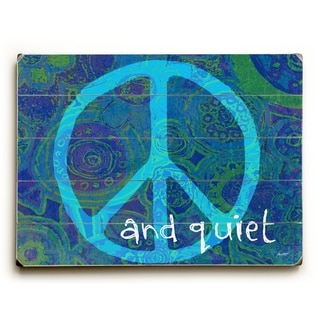 Peace sign and Quiet -   Planked Wood Wall Decor by Lisa Weedn