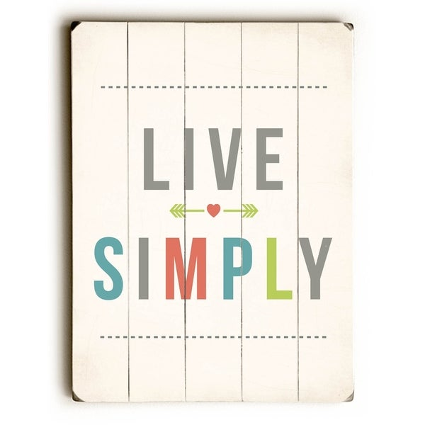 Shop Live Simply - Planked Wood Wall Decor by Rebecca Peragine ...