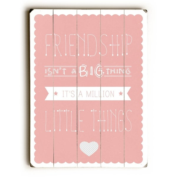 Friendship - Planked Wood Wall Decor by Abbie Smith
