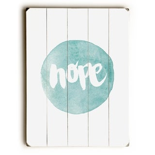 Hope -   Planked Wood Wall Decor by Pocket Fuel