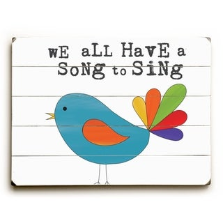 We All Have a Song to Sing -  Planked Wood Wall Decor by  Alli Rogosich