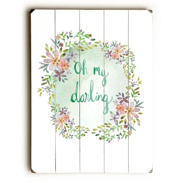 Oh My Darling - Planked Wood Wall Decor by Jennifer Rizzo Design
