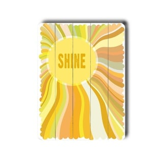 Shine -   Planked Wood Wall Decor by Cory Steffen