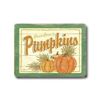 Pumpkins -  Planked Wood Wall Decor by FLAVIA