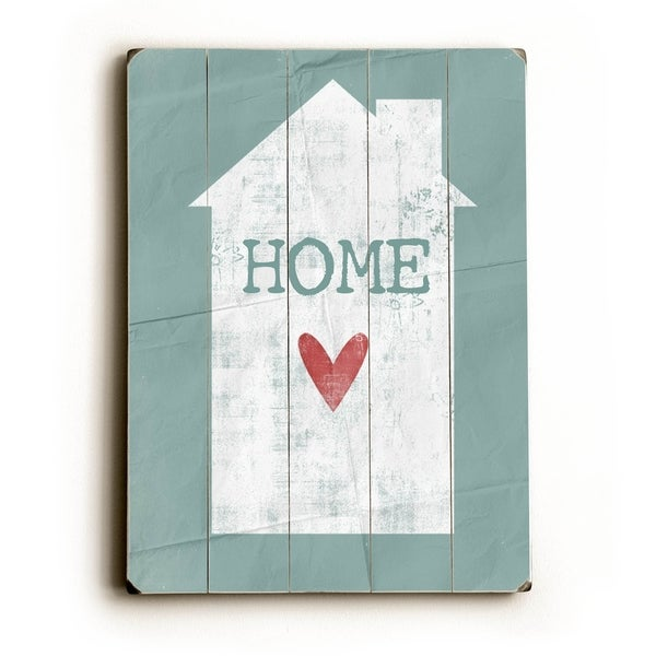 Home - Planked Wood Wall Decor by Cheryl Overton