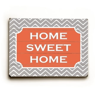 Home Sweet Home Pattern -   Planked Wood Wall Decor by Amanda Catherine