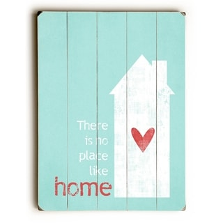No Place Like Home - Green -   Planked Wood Wall Decor by Cheryl Overton
