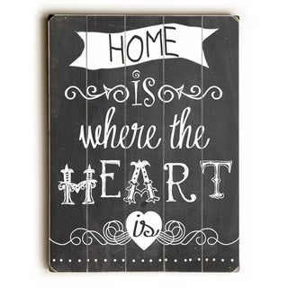 Home is Where the Heart Is -   Planked Wood Wall Decor by Mainline Art- Claudia Schoen