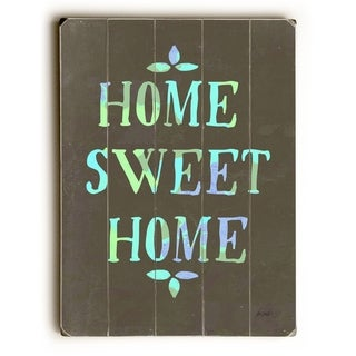 Home Sweet Home -   Planked Wood Wall Decor by Lisa Weedn
