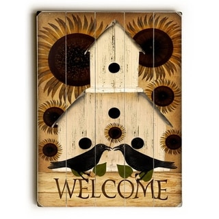 Welcome -   Planked Wood Wall Decor by Mainline Art - Beth Albert