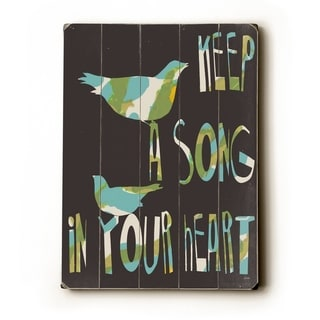 Keep a Song -   Planked Wood Wall Decor by Lisa Weedn