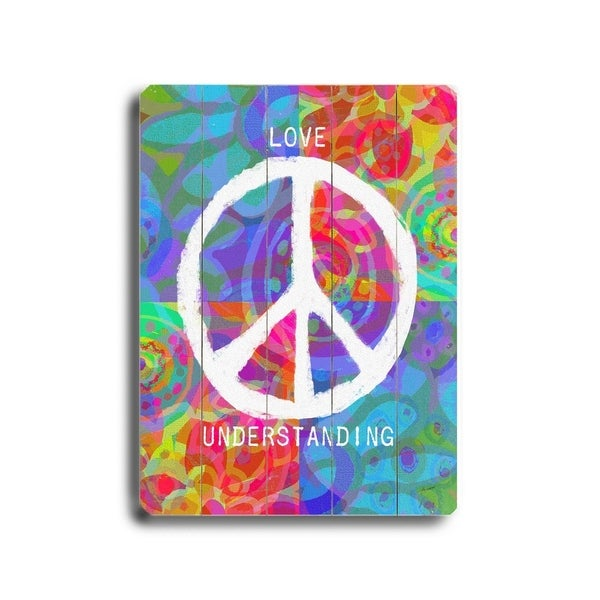 Love peace understanding - Planked Wood Wall Decor by Lisa Weedn