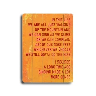 Singing made a lot more sense -   Planked Wood Wall Decor by Lisa Weedn