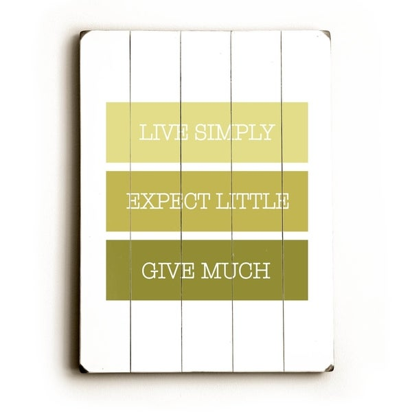 Shop Live Simply,Expect Little - Planked Wood Wall Decor by Amanda ...
