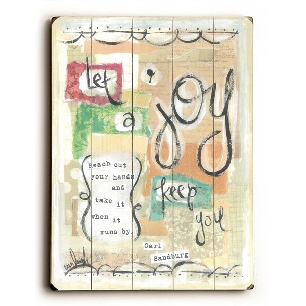 Let Joy Keep You - Planked Wood Wall Decor by Erin Butson