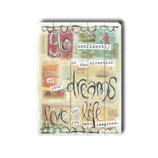 Dreams Live Life -   Planked Wood Wall Decor by Erin Butson
