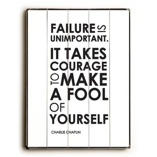 Failure Is -   Planked Wood Wall Decor by Amanda Catherine