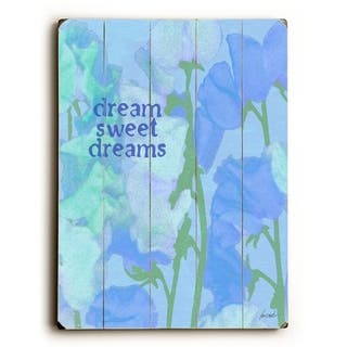 dream sweet dreams - Planked Wood Wall Decor by Lisa Weedn