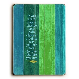 Change your path -   Planked Wood Wall Decor by Lisa Weedn