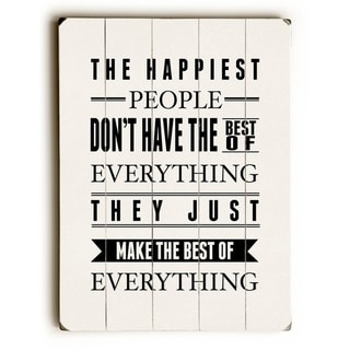Happiest People -   Planked Wood Wall Decor by Abbie Smith