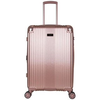 Kenneth Cole 24-inch Lightweight Hardside Expandable Spinner Checked Suitcase With TSA Lock