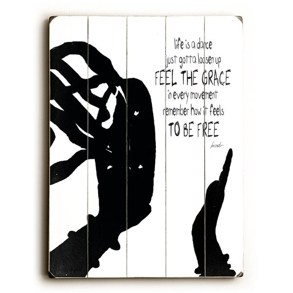 feel the grace - Planked Wood Wall Decor by Lisa Weedn