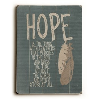 Hope -   Planked Wood Wall Decor by Cheryl Overton