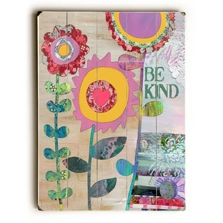 Be Kind -  Planked Wood Wall Decor by  Beth Nadler